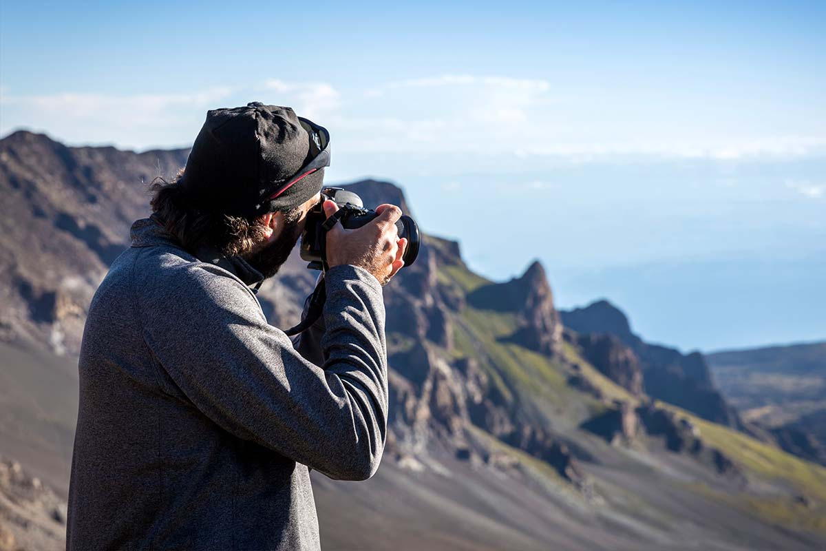 Photographer taking photo on Haleakala
