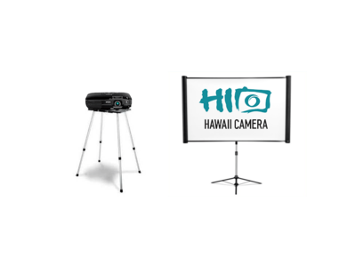 High Definition Projector Package with Screen + Stand