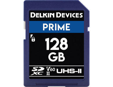 Delkin 128GB UHS-II 1900X SD Card