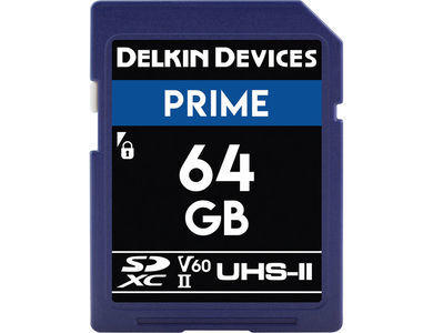 Delkin Devices 64GB Prime UHS-II SDXC Memory Card